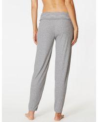 Marks & Spencer - Ribbed Pyjama Bottoms - Lyst