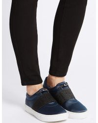 Marks & Spencer - Toggle Slip-on Trainers - Lyst