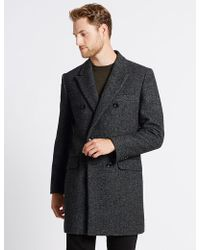 Marks & Spencer - Double Breasted Coat - Lyst