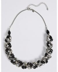 Marks & Spencer - Multi-faceted Assorted Bead Twist Necklace - Lyst