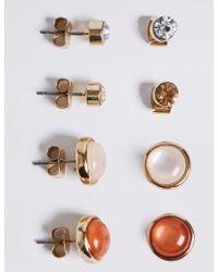 Marks & Spencer - Gold Plated Earrings Set - Lyst