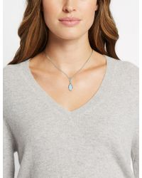 Marks & Spencer - Pavé Navette Drop Necklace Made With Swarovski® Elements - Lyst