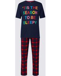 Marks & Spencer - Printed Pyjama Set - Lyst