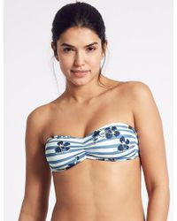 Marks & Spencer - Printed Bandeau Bikini Top - Lyst