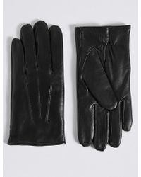 Marks & Spencer - Leather Gloves With Thermowarmthtm - Lyst