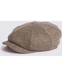 Marks & Spencer - Pure Wool Baker Boy Hat - Lyst
