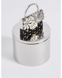 Marks & Spencer   Diamanté & Pearl Effect Encrusted Bag Trinket Box   Lyst