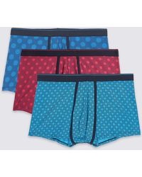 Marks & Spencer | 3 Pack Cotton Rich Spotted Hipsters | Lyst