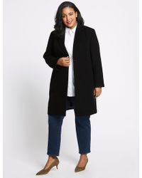 Marks & Spencer - Plus Single Button Coat - Lyst