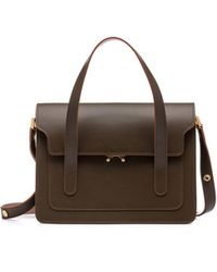 Marni - Trunk Handbag With Shoulder Strap In Two-color Calfskin - Lyst acc19f8e8df1e