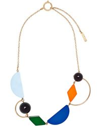 Marni - Metal And Resin Necklace - Lyst