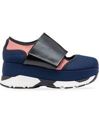 Marni - Sneaker In Techno Fabric Blue - Lyst