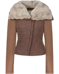 Marrakech - Monique Quilted Aviator Jacket - Lyst