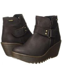 Fly London - Yock Waterproof Wedge Chelsea Ankle Boots - Lyst