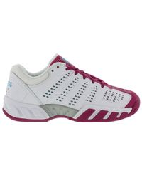 K-swiss - Bigshot Light 2.5 Tennis Shoes - White Very Berry - Lyst