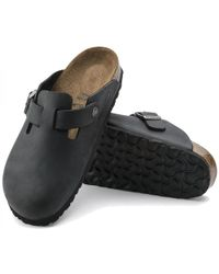 Birkenstock - Boston Oiled Leather Regular Fit Clogs Shoes - Lyst