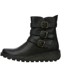 Fly London - Myso Leather Ankle Boots - Lyst