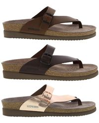 83c7aa1bbb7e Mephisto - Helen Leather Toe Post Sandals - Lyst