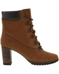 Timberland - Leslie Anne Lace Up Tall Ankle Boots - Lyst