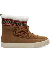 TOMS - Waterproof Toffee Suede Women's Alpine Boots - Lyst