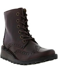 Fly London - Marl Brogue Wedge Ankle Chukka Boots - Lyst