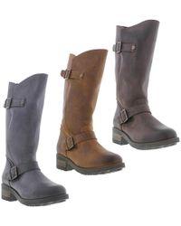 Oak & Hyde - Crest Leather Zip Up Biker Boots - Lyst