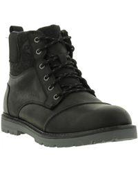 TOMS - Ashland Waterproof Leather Herringbone Ankle Boots - Lyst
