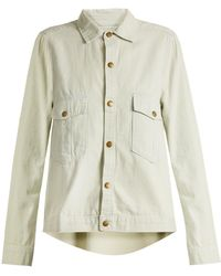 The Great - The Shirt Striped Cotton Jacket - Lyst