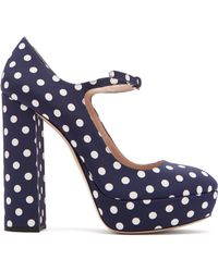 Miu Miu - Polka Dot Platform Mary Jane Court Shoes - Lyst