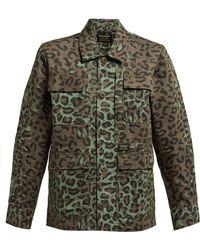 Maharishi Woodland Leopard And Camo Print Cotton Jacket