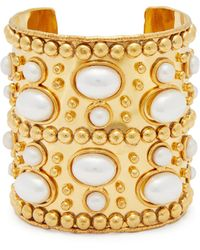 Sylvia Toledano - Wonder Byzance Brass And Pearl Cuff - Lyst