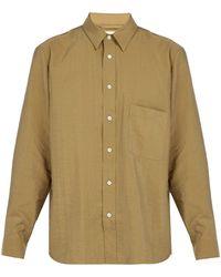 Lemaire - Patch-pocket Silk-blend Shirt - Lyst