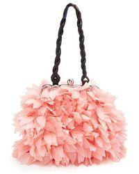 Marni - Floral Mini Organza-appliqué Embellished Bag - Lyst