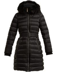 Burberry - Dalmerton Shearling-hood Quilted Coat - Lyst