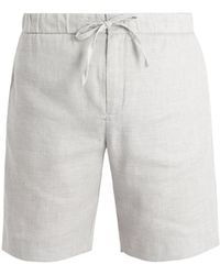Frescobol Carioca - Drawstring-waist Linen-blend Shorts - Lyst