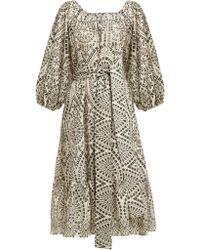 Lisa Marie Fernandez - Laure Broderie Anglaise Cotton Dress - Lyst
