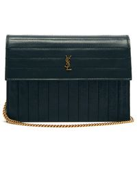Saint Laurent - Victoire Mini Quilted Leather Cross Body Bag - Lyst a93ebfc09bfc9