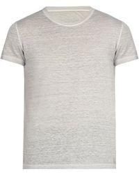 120% Lino - Linen Crew Neck T Shirt - Lyst