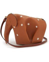 Loewe - Elephant Mini Leather Cross-body Bag - Lyst