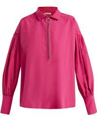 Marni - Pleated Cotton Shirt - Lyst