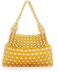 Shrimps - Quinn Faux Pearl And Bead Embellished Bag - Lyst
