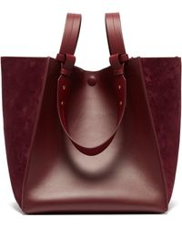 Sophie Hulme - Cube Leather And Suede Tote Bag - Lyst