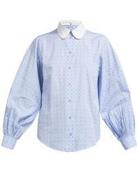 7a2abe1c Gucci - Logo Fil Coupé Cotton Poplin Shirt - Lyst