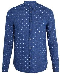 120% Lino - Polka Dot Embroidered Linen Shirt - Lyst
