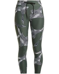 The Upside - Mallard-print Cropped Leggings - Lyst