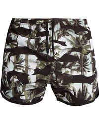 Neil Barrett - Camouflage Palm-print Swim Shorts - Lyst
