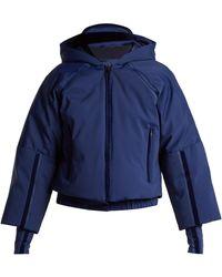 Fendi - Hooded Cropped-sleeve Down Ski Jacket - Lyst