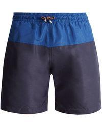 Stella McCartney - Mid-rise Panelled Swim Shorts - Lyst