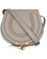 Chloé - - Marcie Mini Leather Cross Body Bag - Womens - Grey - Lyst