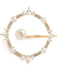 Anissa Kermiche Diamond, Pearl & Yellow-gold Ring - Metallic